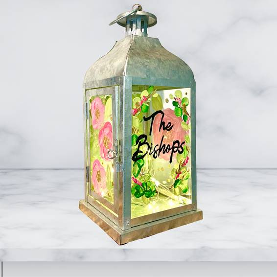 A Family Name Customizable Lantern with Fairy Lights experience project by Yaymaker