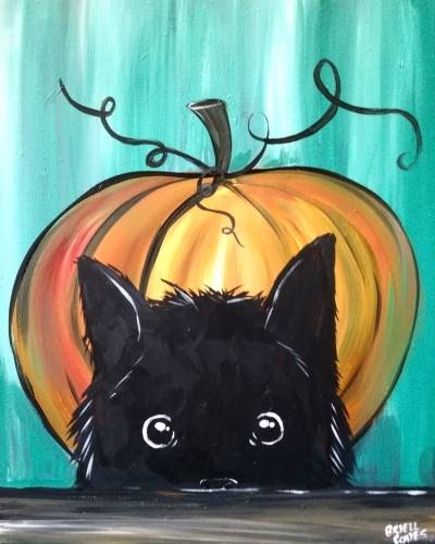 A Kittens First Halloween paint nite project by Yaymaker