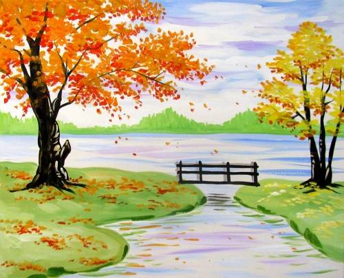A Countryside in Fall paint nite project by Yaymaker