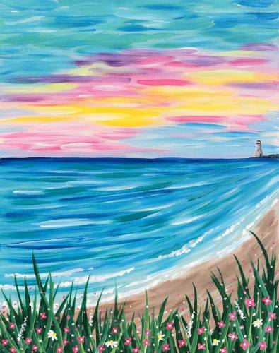 A East Coast Beach View paint nite project by Yaymaker