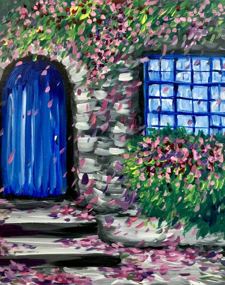 A Vanity Villa paint nite project by Yaymaker