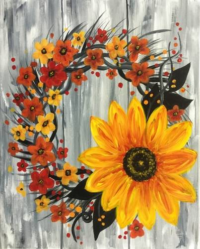 A Harvest Wreath paint nite project by Yaymaker