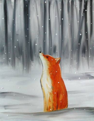 A Winter Fox paint nite project by Yaymaker