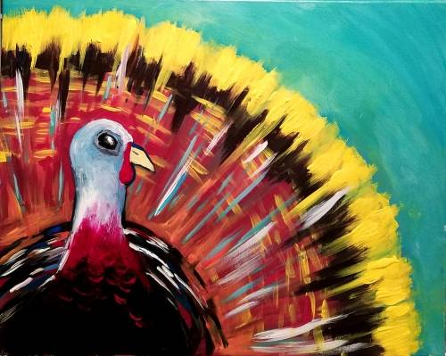 A Autumn Thanksgiving Turkey paint nite project by Yaymaker