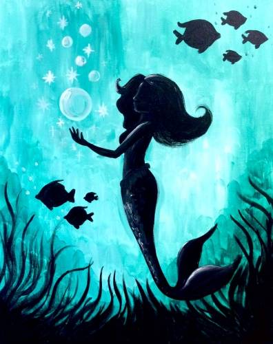 A Mermaid Magic III paint nite project by Yaymaker