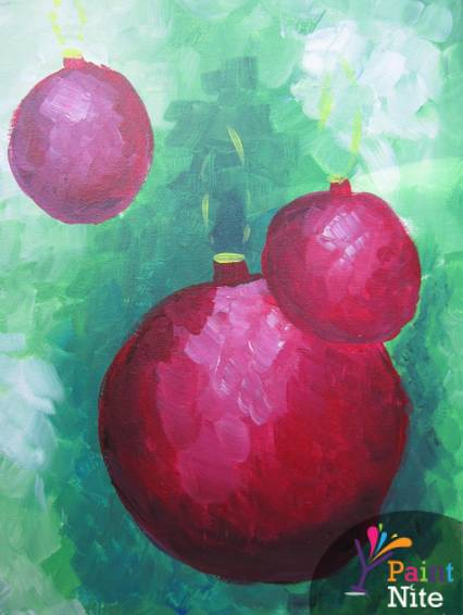 A Christmas Bulbs paint nite project by Yaymaker