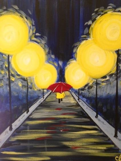 A Red Umbrella paint nite project by Yaymaker