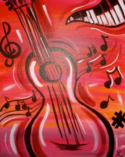 A Musical Masterpiece paint nite project by Yaymaker