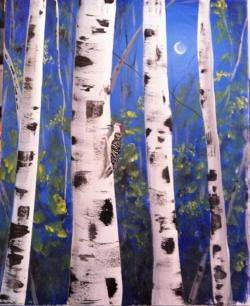 A The Woodpecker paint nite project by Yaymaker