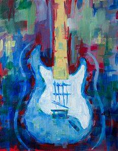 A Abstract Guitar paint nite project by Yaymaker