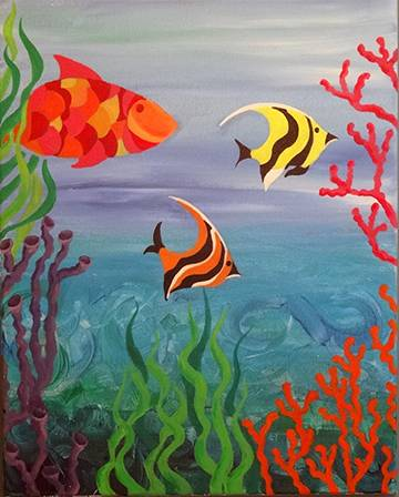 A Sea of Love paint nite project by Yaymaker