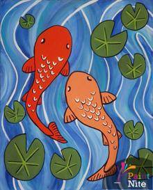 A Koi Fish paint nite project by Yaymaker
