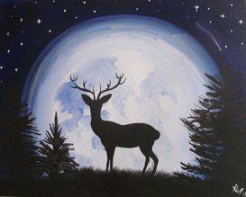 A Stag Moon paint nite project by Yaymaker