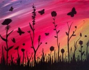 A Float Like a Butterfly paint nite project by Yaymaker