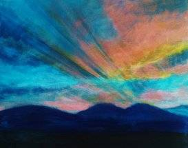 A Blue Hills Sunrise paint nite project by Yaymaker