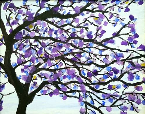 A Jacaranda Tree paint nite project by Yaymaker