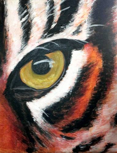 A Eye of the Tiger paint nite project by Yaymaker