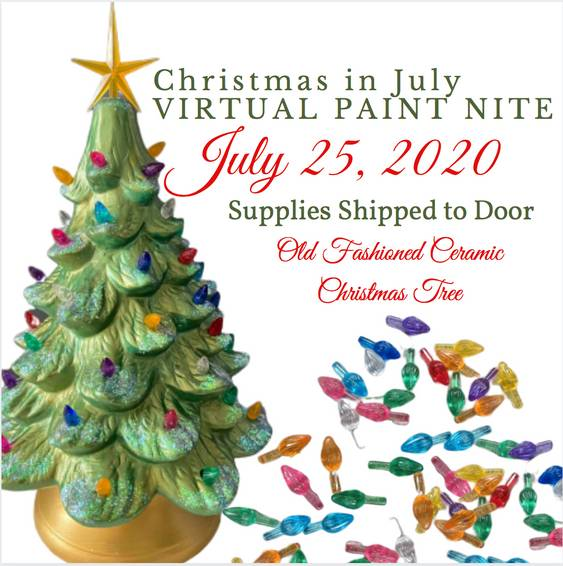 A Christmas in July Old Fashioned Ceramic Christmas Tree  Supplies Shipped to Door experience project by Yaymaker