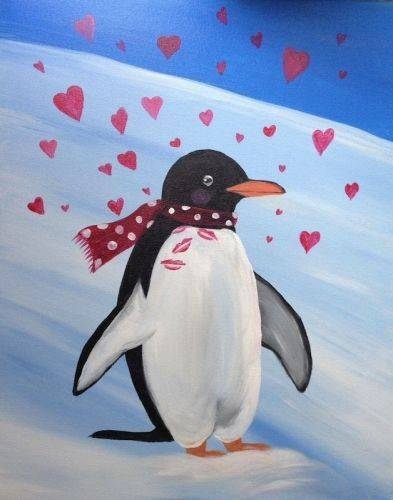 A Penguin Love paint nite project by Yaymaker