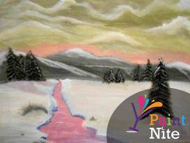 A Winter Wonderland 2 paint nite project by Yaymaker