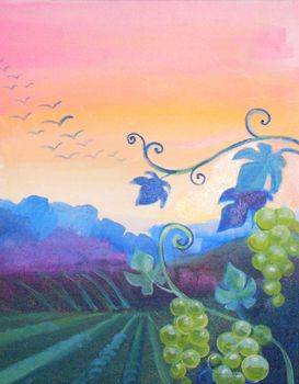 A Grape Vines paint nite project by Yaymaker