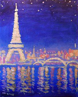 A Paris Lights paint nite project by Yaymaker