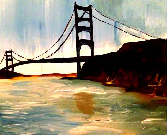 A Golden Gate paint nite project by Yaymaker