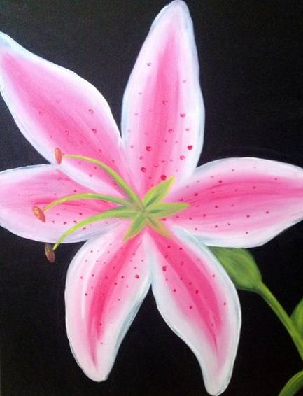 A Giant Lily paint nite project by Yaymaker
