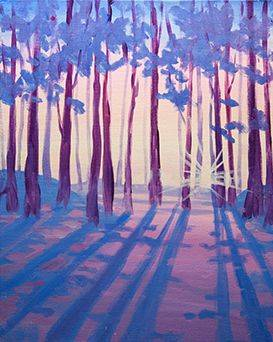 A Blue Shadows paint nite project by Yaymaker