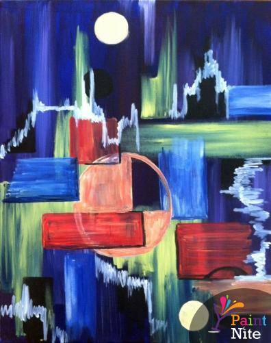 A Reflection Abstraction paint nite project by Yaymaker