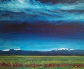 A Snowcaps in Spring paint nite project by Yaymaker