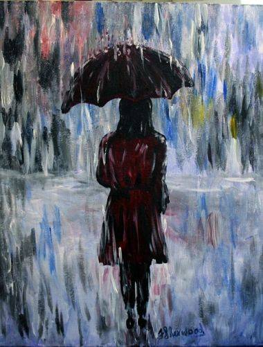 A A Walk In The Rain paint nite project by Yaymaker