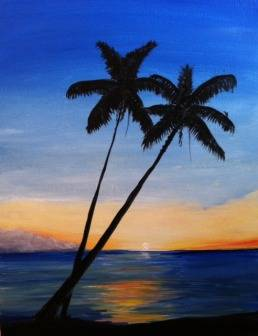 A Hawaii Not paint nite project by Yaymaker