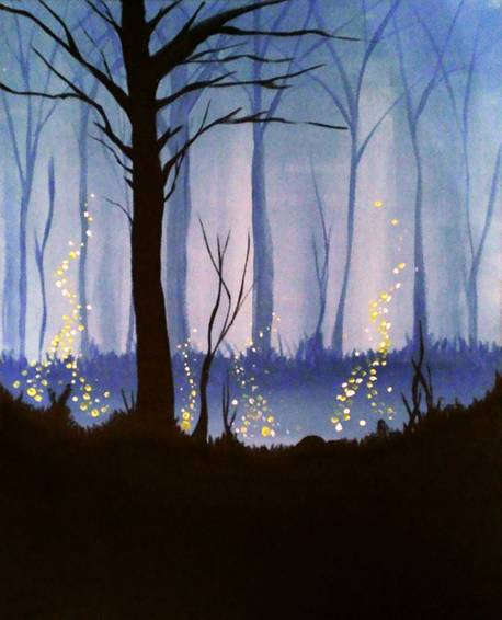 A Blue Twilight paint nite project by Yaymaker