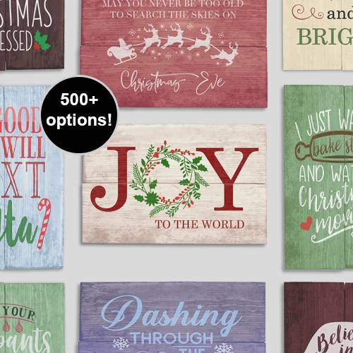 A NEW DIY Stencil Wood Signs  Holiday Cheer Design a Sign experience project by Yaymaker