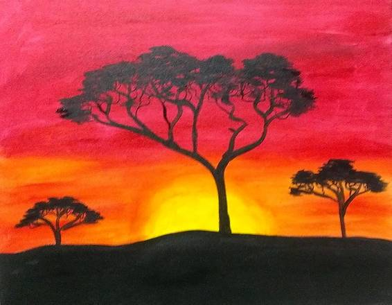 A African Safari 1 paint nite project by Yaymaker
