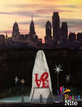 A Philly Love paint nite project by Yaymaker