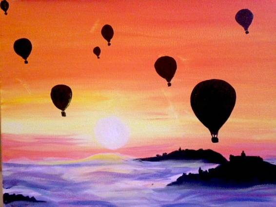 A Balloon Race 1 paint nite project by Yaymaker
