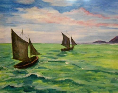 A Classic Sailboats paint nite project by Yaymaker