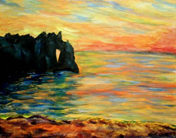 A Impressionist Sunset paint nite project by Yaymaker