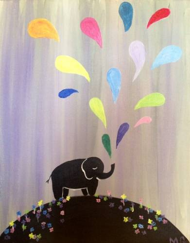 A Spouting Elephant paint nite project by Yaymaker