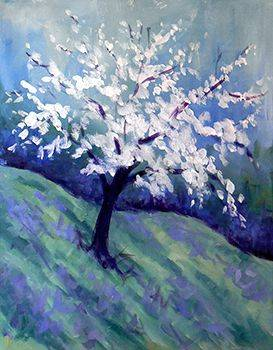A Blossoming Tree paint nite project by Yaymaker