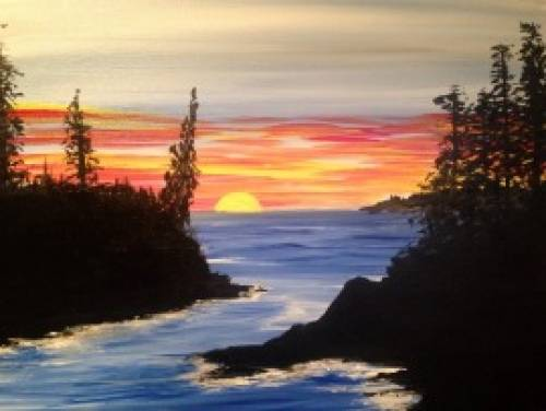 A The Cove 1 paint nite project by Yaymaker