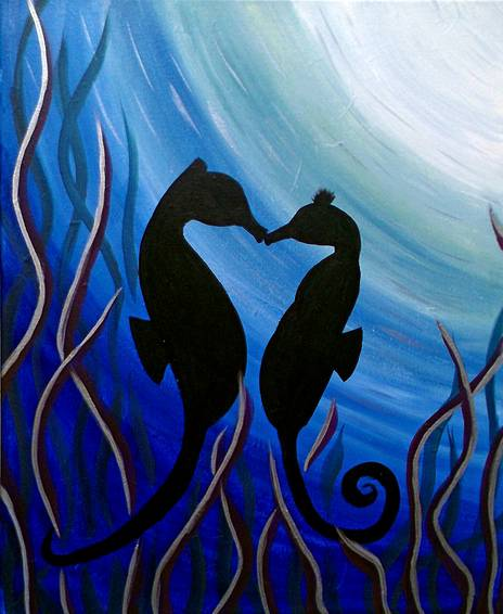 A Love Under the Sea paint nite project by Yaymaker