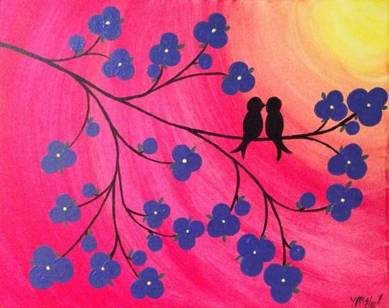 A Birdie Love paint nite project by Yaymaker