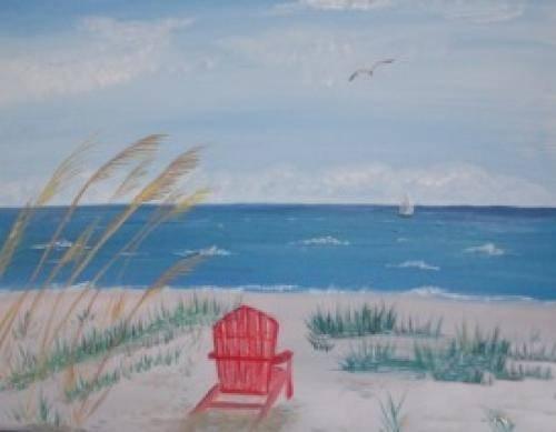 A Beach Daze 1 paint nite project by Yaymaker