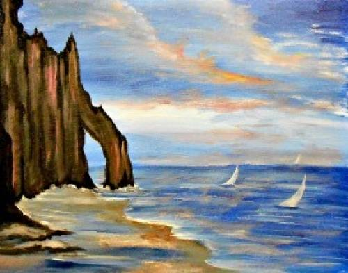 A Leaving Harbor Island paint nite project by Yaymaker