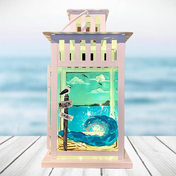 A Seaside Heights Beach Lantern with Fairy Lights experience project by Yaymaker