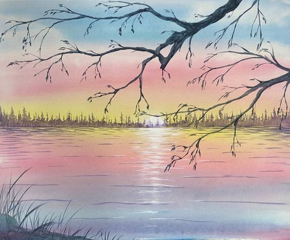 A Watercolor Sunset experience project by Yaymaker