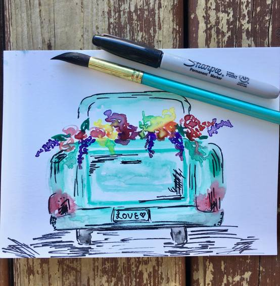 A Watercolour Truck Blooms experience project by Yaymaker
